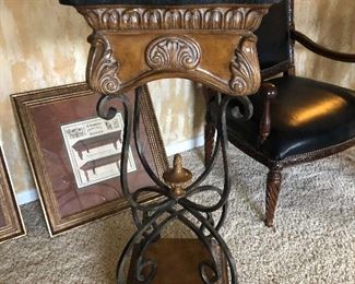 Marble Top Plant Stand / Lamp Table