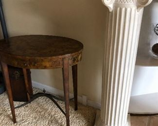 Thomasville side table and white pillar