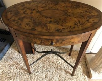 Thomasville Oval Side Table with drawer