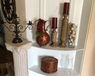 Iron Candelabra, Gold Color Candle Holders , Grape Vase, Ornaments