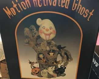 motion activated ghost and witch decor