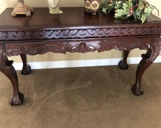 Faux Wood Hallway Entry Table