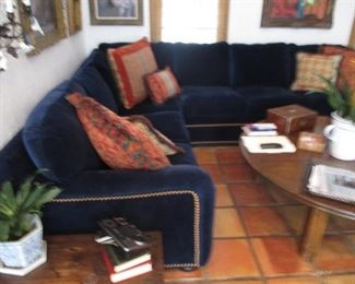 Beautiful Blue Plush Sectional Sofa So Comfortable