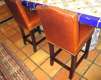 Leather Tufted Counter/Bar Seating
