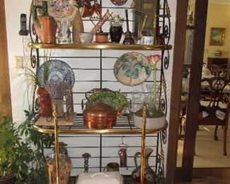 Tasteful Brass & Iron Baker Rack Great For Any Room