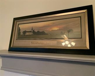Framed print of country church wall decor