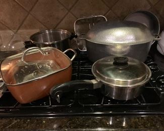 Vintage aluminum, and copper clad cookware