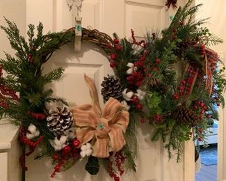 Christmas wreaths and hangers