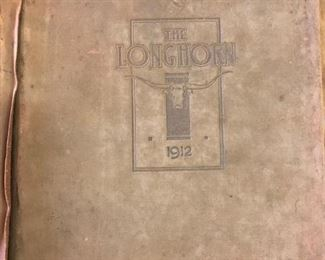 """The Longhorn 1912""  Aggie Yearbook  Nice condition"