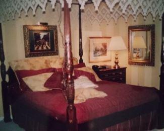 "Queen Anne Rice Bed - Queen Size - $395.00 -          7'1/2"" x 66 1/4"" x   88 1/2""  Master Bedroom Furniture"