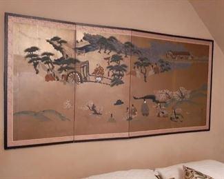 "Chinese Screen - 73"" x 1"" x 3' Silk"