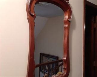 """Antique Wooden Mirror - 32 1/2"""" x 2"""" x  41 1/2""""                                $"""