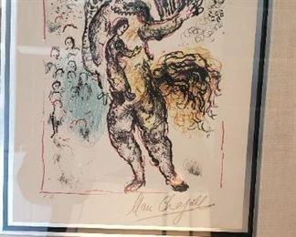 "Mark Chagall Signed ""E.A."" Artist Proof"