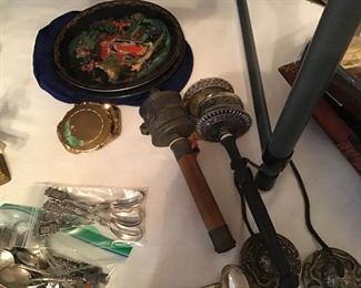 Prayer Throwers,  Sterling,  Silverplate,  Lacquered Plates