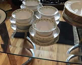 Limoges Cups with Saucers