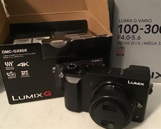 Lumix GX 85K Camera with Lens 100 - 300