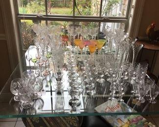 Assorted Stemmed Glasses