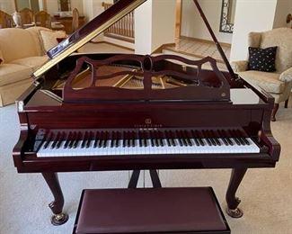 Story & Clark mahogany Artist's Series Provincial 5' grand piano, available immediately