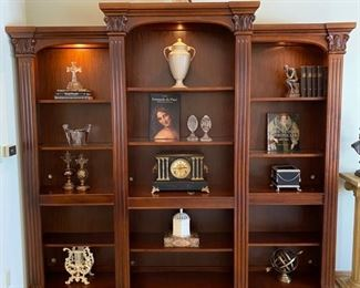 Three piece lit bookshelf