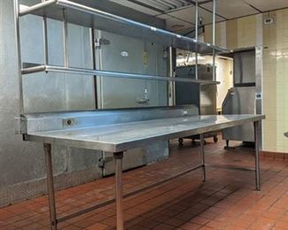 Stainless Steel Prep Table With Shelving