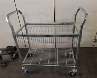 Chrome Rolling Cart