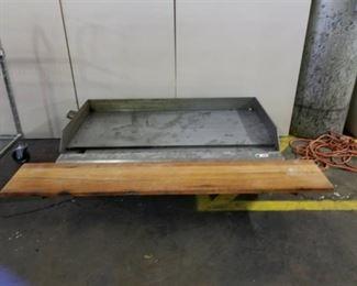Gas Griddle w/ Wood Front Shelf