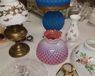 Glassware, lamps and fixtues