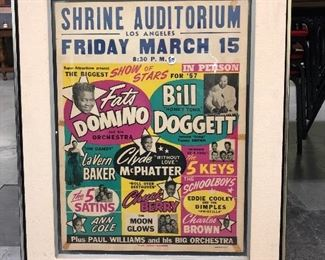 Fats and Chuck Berry Concert Poster!