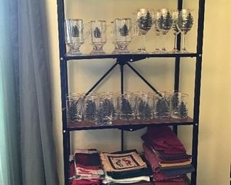 Spode Christmas Glasses and Table Linens