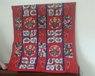 Tapestry, dimensions (in inches) are 58h x 55.25w -- $75
