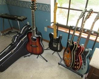Ovation, Fender, Epiphone, Hagstrom, old Fender steel guitar