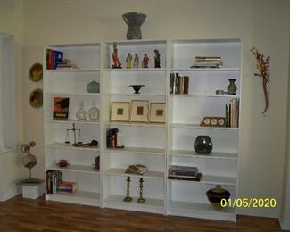 3 - White Bookcases