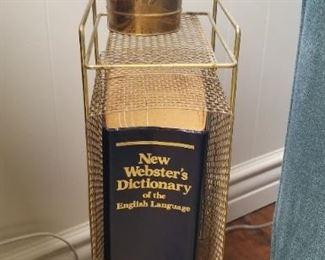 Vintage, mid century modern brass telephone stand/magazine rack