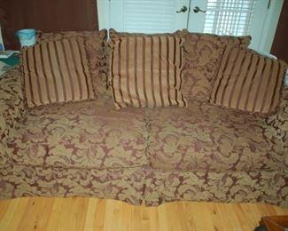 "Floral sofa, 93""W x 38""D x 34""H"