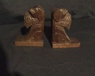 Pair of black walnut bookends, Germany