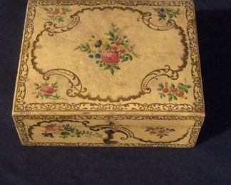 Charming antique sewing box