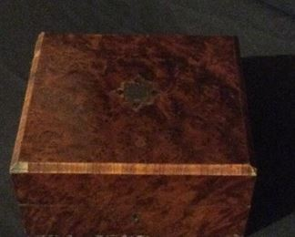 Burled wood antique box