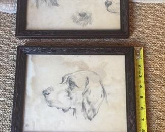 Beautiful pencil etchings I bought in Venice many many moons ago. Even water marked from there. New custom frames