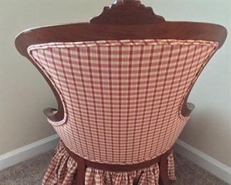 Back of slipper chair