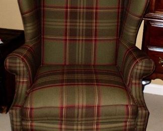 Ethan Allen worsted wool Portsmouth chair- classic. 33d x 30w x47h