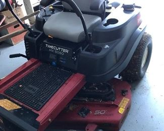 "TORO TIMECUTTER MX5050 50"" DECK ZERO TURN WITH BAGGER"