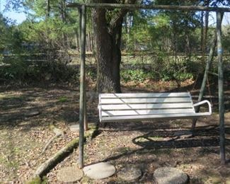 swing with iron stand, 1 of 2