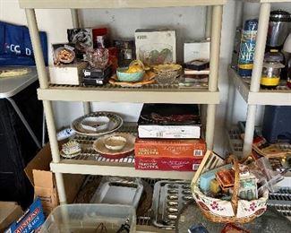 So much kitchenware we had to put in the garage