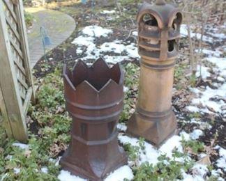 Antique or vintage chimney pots