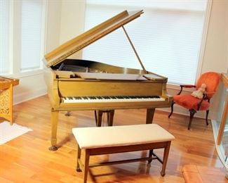 1913 Steinway Model M Grand Piano in Light Fruitwood Finish