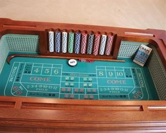Unique Craps Layout Coffee Table. Perfect for the Man Cave!