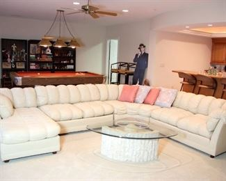 North Hickory Leather Sectional Sofa