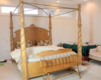 Monumental King 4 Post Canopy Bed with Tempur-Pedic Mattress
