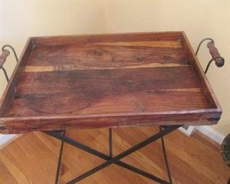 $65 Antique serving table; used as a coffee table and an end table