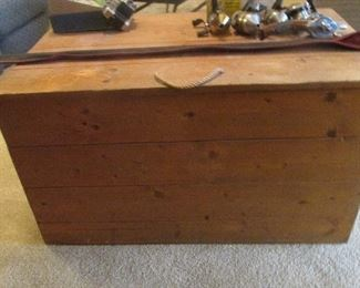 $75- Large wooden storage box